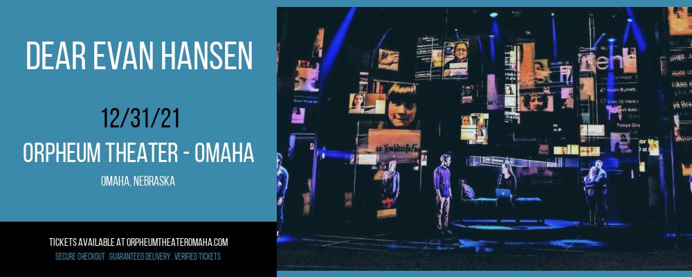 Dear Evan Hansen at Orpheum Theater - Omaha